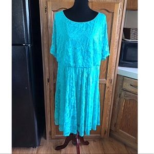 Wrapper Mint Green Lace Dress Size 2X